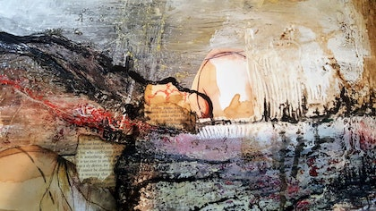 (CreativeWork) Walking Walking Stories and tales  by Jane McCumstie. mixed-media. Shop online at Bluethumb.