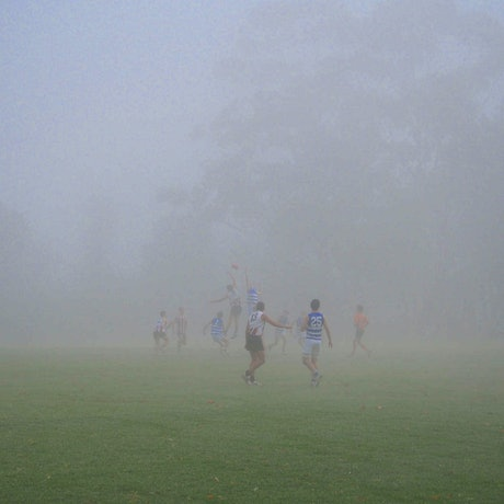 (CreativeWork) foggy footy Ed. 1 of 20 by Peter Collie. Photograph. Shop online at Bluethumb.