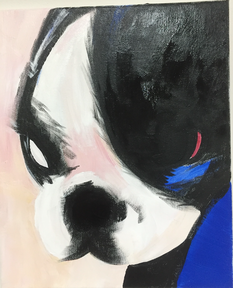 (CreativeWork) Atticus pooch by Anna-marie Redpath. arcylic-painting. Shop online at Bluethumb.
