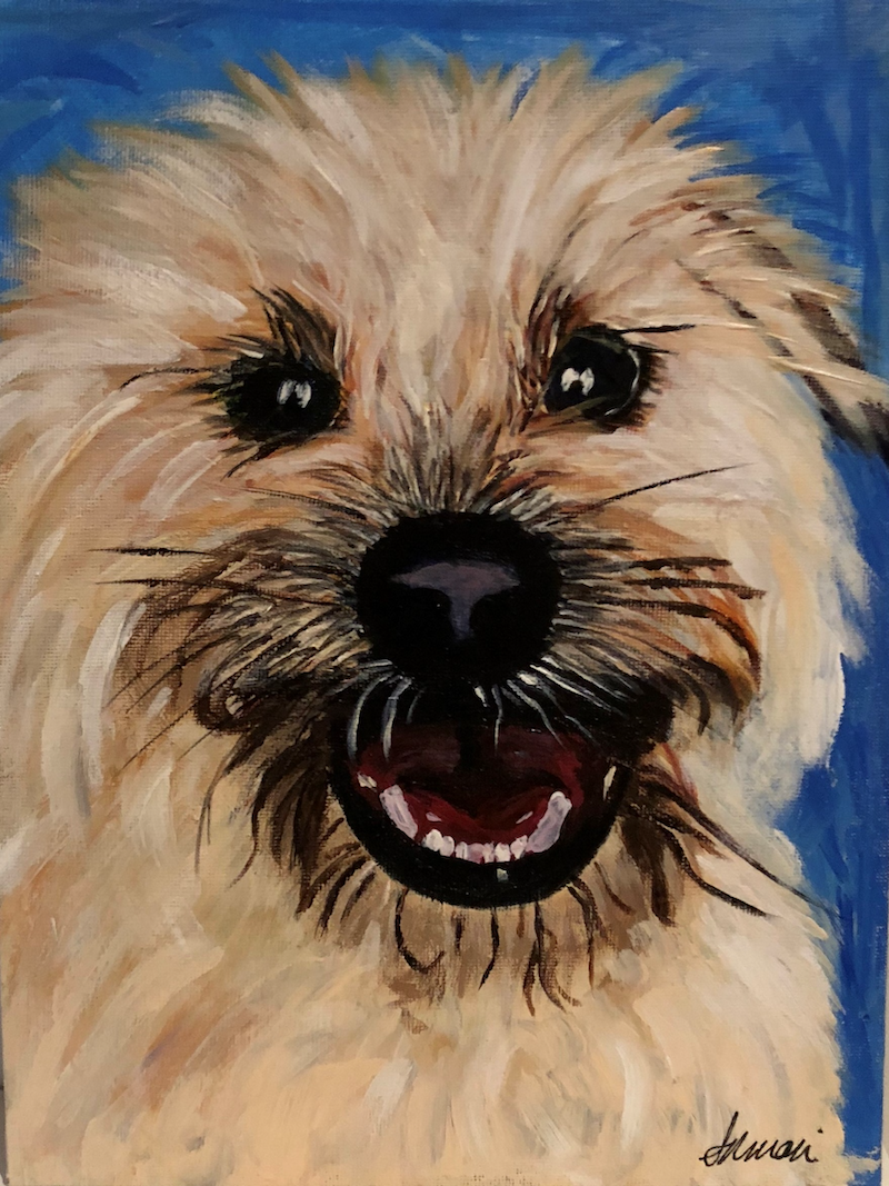 (CreativeWork) There's bacon?! by Anna-marie Redpath. arcylic-painting. Shop online at Bluethumb.