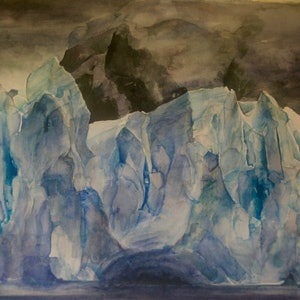 (CreativeWork) Ice Palace by Amanda Robins. watercolour. Shop online at Bluethumb.