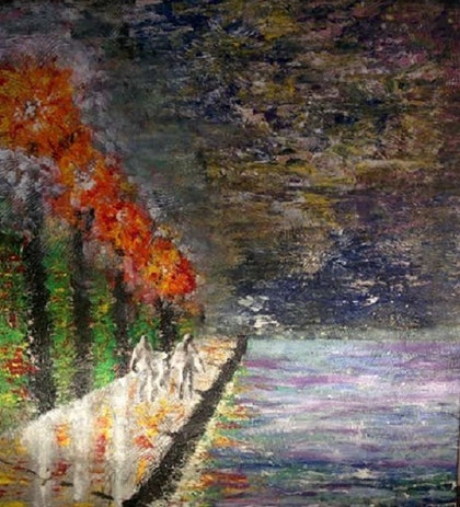 (CreativeWork) Boardwalk by Richard Roden. arcylic-painting. Shop online at Bluethumb.