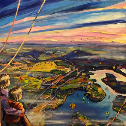 (CreativeWork) Spectacular Canberra 2 by Valentyna Crane. Acrylic Paint. Shop online at Bluethumb.