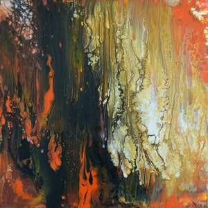 (CreativeWork) Burning Embers by Brigitte Ackland. arcylic-painting. Shop online at Bluethumb.