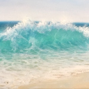 (CreativeWork) Torquiose Waters by Janet Claydon. oil-painting. Shop online at Bluethumb.