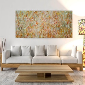 (CreativeWork) Poppy Fields by Andrea Edwards. arcylic-painting. Shop online at Bluethumb.