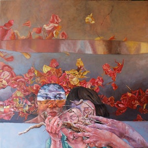 (CreativeWork) Rumbling Nostalgia by Maria Peña. oil-painting. Shop online at Bluethumb.