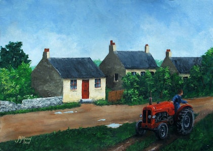 (CreativeWork) Somewhere in Somerset by John N Mason. arcylic-painting. Shop online at Bluethumb.