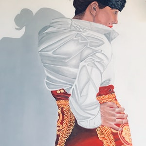 "(CreativeWork) Matador ""La Chula"" by Javi Sanchez. arcylic-painting. Shop online at Bluethumb."