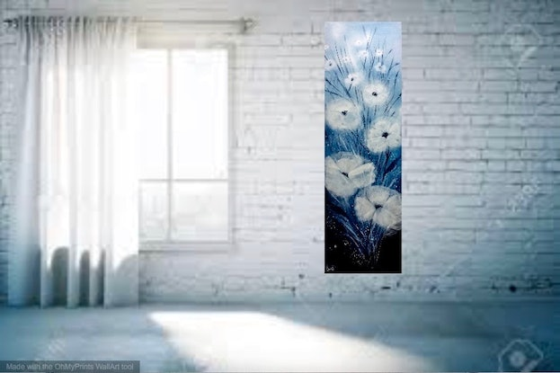 (CreativeWork) Porcelain, Blue122x41x3.5 by Louise Croese. #<Filter:0x00007f5fd0ba7a98>. Shop online at Bluethumb.