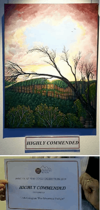 (CreativeWork) Blue Mountains Twilight  by Linda Callaghan. #<Filter:0x00007ff1b0749fd8>. Shop online at Bluethumb.