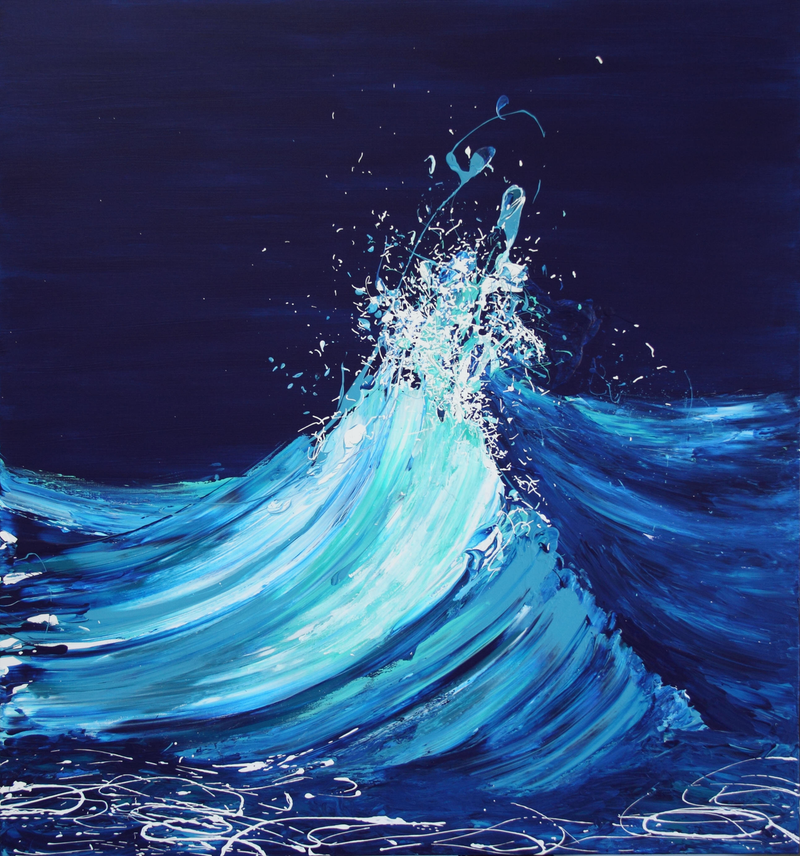 (CreativeWork) Rising - Wave Series 2018 by Annette Spinks. mixed-media. Shop online at Bluethumb.
