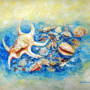 (CreativeWork) Nature's Gifts  by Glenise Clelland. oil-painting. Shop online at Bluethumb.