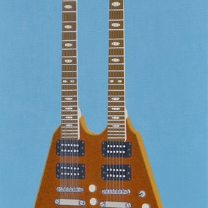 (CreativeWork) The Glamorous Golden Flying V  by BRETT ROSE. acrylic-painting. Shop online at Bluethumb.