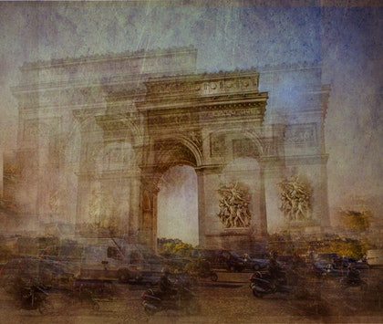 (CreativeWork) Arc De Triomphe. by Joseph Remi d'Argent. photograph. Shop online at Bluethumb.