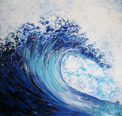 (CreativeWork) Coastal by Sally Ford. arcylic-painting. Shop online at Bluethumb.