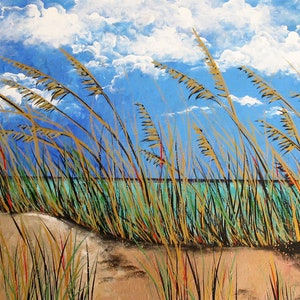 (CreativeWork) Beyond the Dunes by Sally Ford. arcylic-painting. Shop online at Bluethumb.
