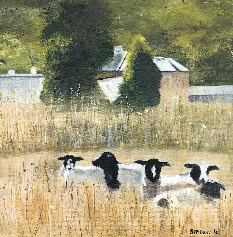 (CreativeWork) Lazy Summers Day by Bernadette McConville. Oil Paint. Shop online at Bluethumb.