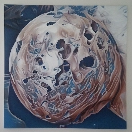 (CreativeWork) Orbital Transitional. by Chris Hislop. Oil Paint. Shop online at Bluethumb.