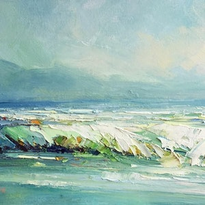 (CreativeWork) Colors of the ocean by Liliana Gigovic. oil-painting. Shop online at Bluethumb.