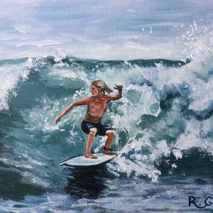 (CreativeWork) Beach Break - NOW in Ready Made FRAME by Robyn Gray. arcylic-painting. Shop online at Bluethumb.
