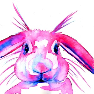 (CreativeWork) Bunny in Ink March 2018 21x14cm unframed by Linda Hammond. other-media. Shop online at Bluethumb.