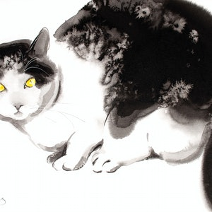 (CreativeWork) Feline Composure2 by Soo Beng Lim. drawing. Shop online at Bluethumb.