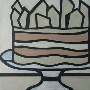 (CreativeWork) Celebration Cake  by Claudia Claveria. arcylic-painting. Shop online at Bluethumb.