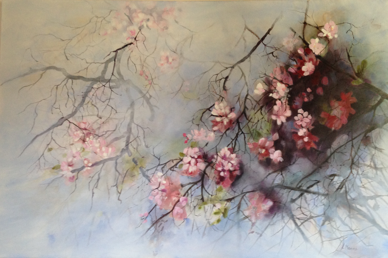 (CreativeWork) Wild and Free by Leanne Manns. arcylic-painting. Shop online at Bluethumb.