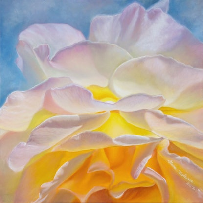 (CreativeWork) The Rose of the Sun by Elena Valerie. Oil Paint. Shop online at Bluethumb.