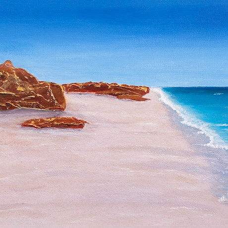 (CreativeWork) Pure Shores  by Kerry Sandhu. Acrylic Paint. Shop online at Bluethumb.