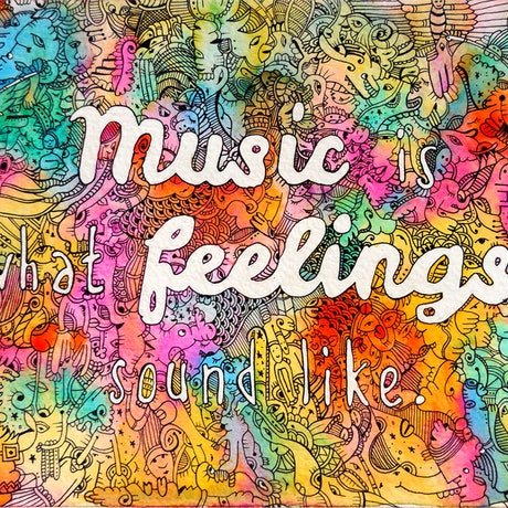 (CreativeWork) Music is what feelings sound like by Mishy Rowan. Watercolour. Shop online at Bluethumb.