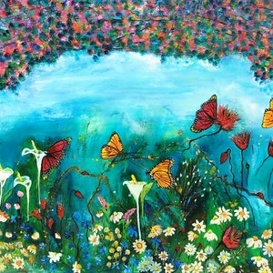 """(CreativeWork) """"FANTASIA"""" - Rise of the Monarch by Marion Parker. oil-painting. Shop online at Bluethumb."""