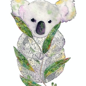 (CreativeWork) Koala by Mishy Rowan. watercolour. Shop online at Bluethumb.