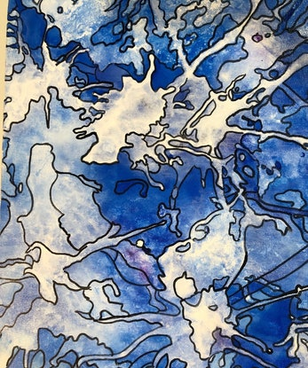 (CreativeWork) Shattered CZ18018 by Carol Zsolt. Acrylic Paint. Shop online at Bluethumb.