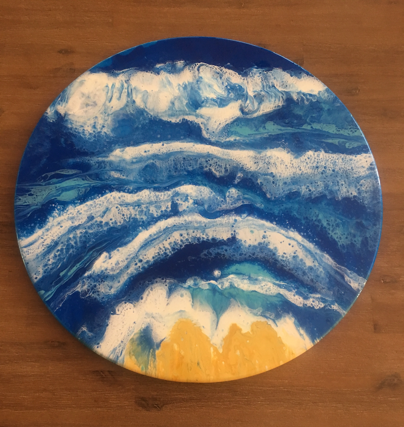 (CreativeWork) Towards Shore SOLD by Di Parsons. resin. Shop online at Bluethumb.