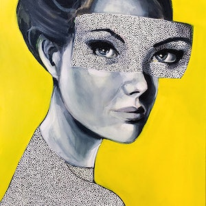 (CreativeWork) Dotti-Y by Jac Clark. arcylic-painting. Shop online at Bluethumb.