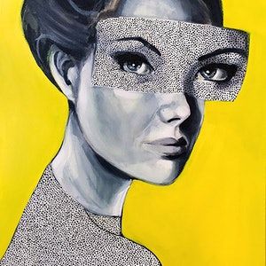 (CreativeWork) Dotti-Y by Jac Clark. acrylic-painting. Shop online at Bluethumb.