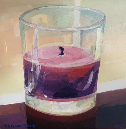 (CreativeWork) Candle Scent by Leo Alexander Scott. oil-painting. Shop online at Bluethumb.