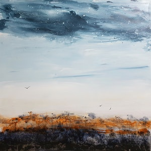 (CreativeWork) Twilight by Lily Day. arcylic-painting. Shop online at Bluethumb.