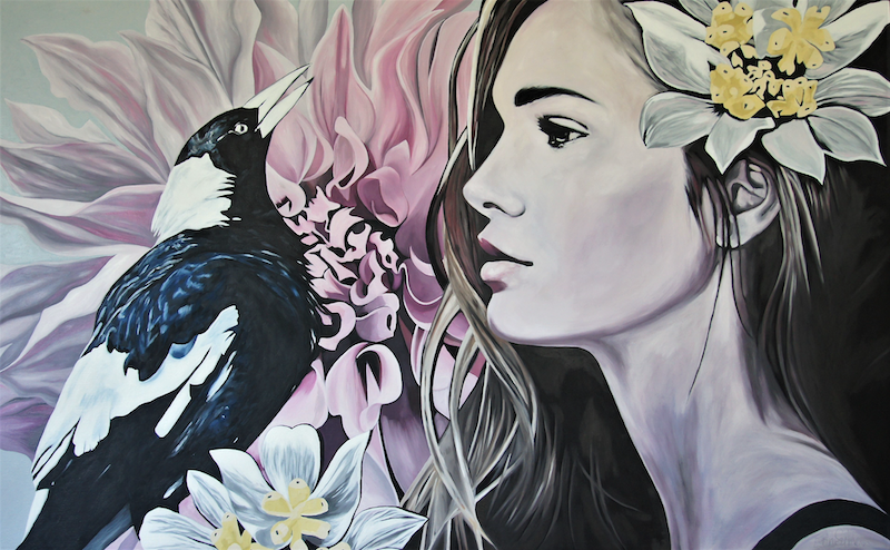 (CreativeWork) Maggie May by Erin Sullivan. oil-painting. Shop online at Bluethumb.