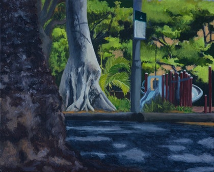 (CreativeWork) Foley Park & Child's Play by Ishbel Morag Miller. oil-painting. Shop online at Bluethumb.