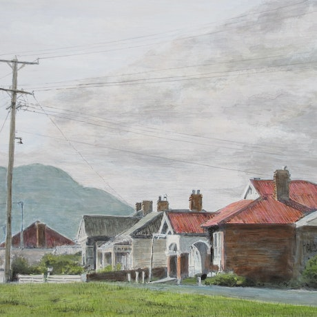 (CreativeWork) Gatehouse Street, Moonah (Tasmania) by Michael Bessell. Acrylic Paint. Shop online at Bluethumb.