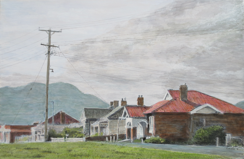 (CreativeWork) Gatehouse Street, Moonah (Tasmania) by Michael Bessell. acrylic-painting. Shop online at Bluethumb.