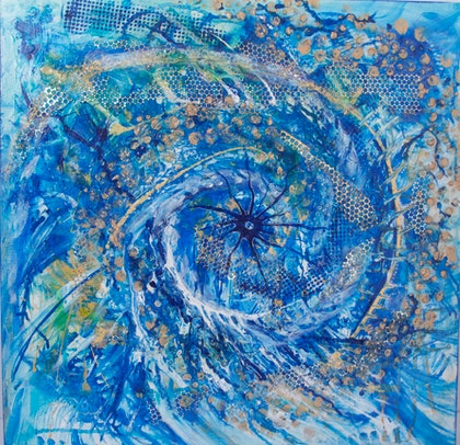 (CreativeWork) Vortex by Tamzen Flannery. mixed-media. Shop online at Bluethumb.