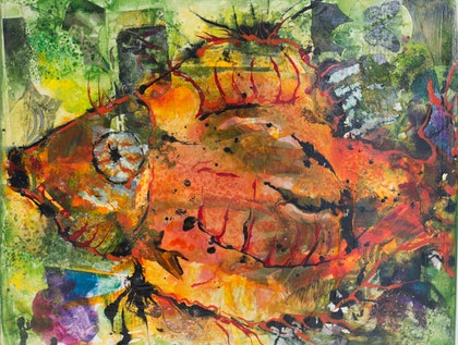 (CreativeWork) A Bit Fishy by Tamzen Flannery. mixed-media. Shop online at Bluethumb.