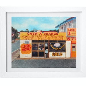 (CreativeWork) 'Cash Rules' by Donovan Christie. oil-painting. Shop online at Bluethumb.