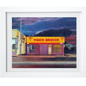 (CreativeWork) 'Pawn Hub' by Donovan Christie. oil-painting. Shop online at Bluethumb.