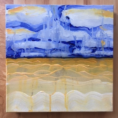 (CreativeWork) Thin Line 10 by Kitty Berton. Acrylic Paint. Shop online at Bluethumb.