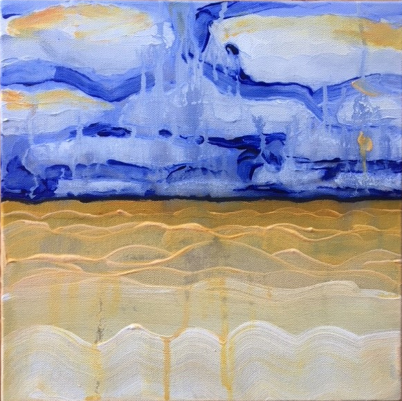 (CreativeWork) Thin Line 10 by Kitty Berton. arcylic-painting. Shop online at Bluethumb.